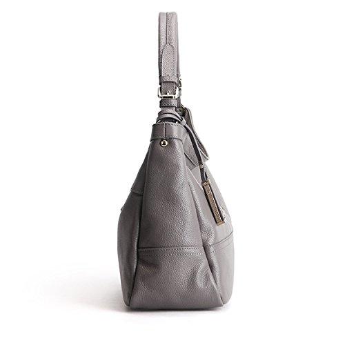 fashion à bandoulière Sac épaule LF portés 6024 Sac en main Valin Sac cuir femme Sac portés main Gris SXwfUR