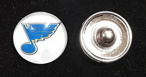 St. Louis Blues NHL Snap Ginger Button Jewelry for Jackets, Bracelets & more...