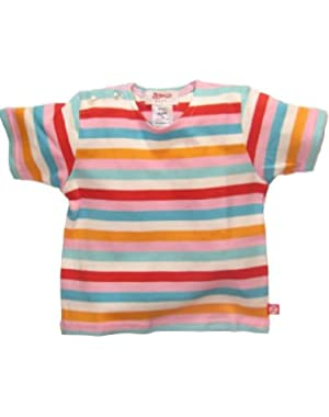 Pink Bold Stripe Short Sleeve T-shirt