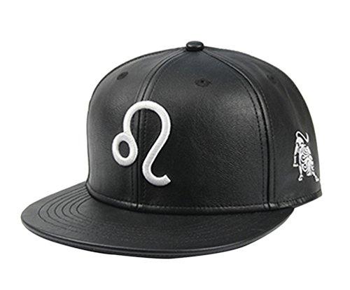 NiSeng Hip Hop Hat Zodiac Embroidered Snapback Cap Plain Baseball Caps Leo