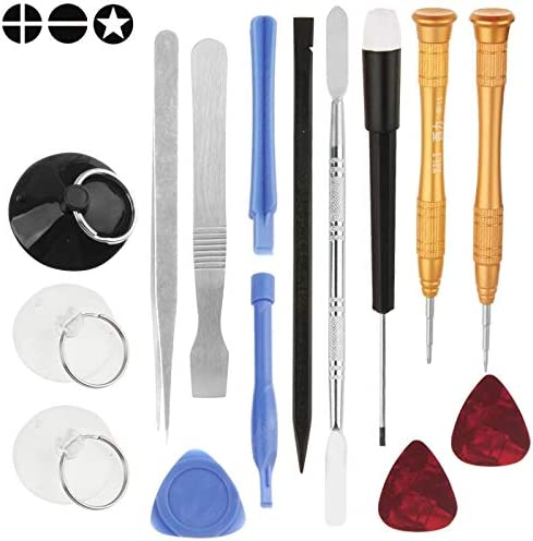 Professional Cell Phone Accessory Kits Compatible with Mobile Phones 15pcs//Set Repair Tools Kit