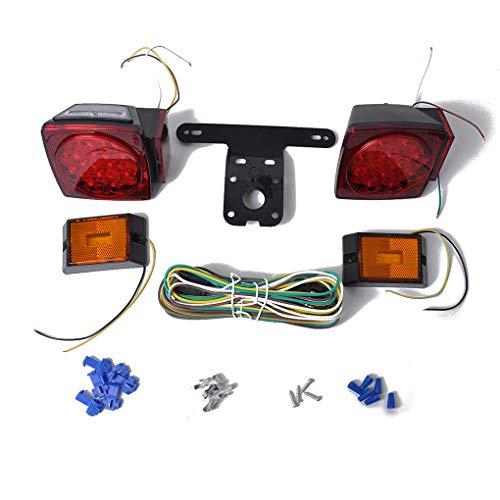 Hotaluyt 12V LED Submersible Trailer Tail Light Brake and License Light Kit Replacement for Trailer RV Semi-Trailer