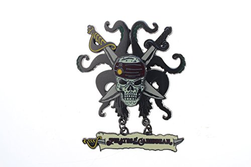 Disney Pirates of the Caribbean - Skull, Crossed Swords and Tentacles (Dangle) (Caribbean Disney Pin)