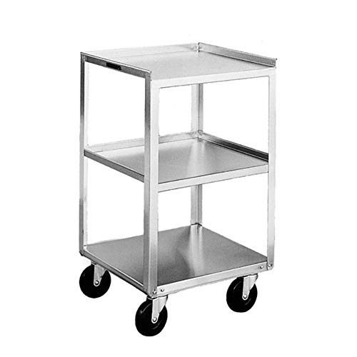 Lakeside 359 Mobile Equipment Stand, Stainless Steel, 3 Shelves, 300 lb. Capacity (Fully Assembled)