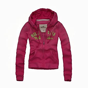 Hollister by Abercrombie Damen JackeKapuzenjacke pink