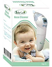 Baby Cove Nasal Aspirator w/Music (Portable) Small Nose Cleaner Vacuum and Snot Sucker | Infant Newborn Toddler Safe | Adjustable Strength Battery Powered Use
