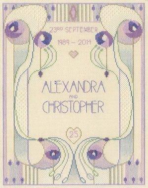 Mackintosh Wedding/Anniversary Sampler Cross Stitch Kit
