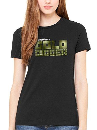 Kanye West Gold Digger T Shirt (Noir) - Large