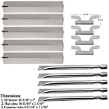 Bar.b.q.s Replacement Stainless Steel Grill Burner Heat Plates Crossover tube For Gas Grill Brinkmann 810-1750-s 810-1751-S 810-3551-0 Gas Grill Parts Kit
