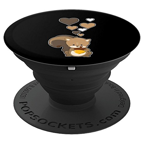 - Cute Squirrel with Hearts - Love Squirrels - PopSockets Grip and Stand for Phones and Tablets