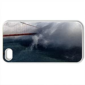 Bay Bridge - Case Cover for iPhone 4 and 4s (Oceans Series, Watercolor style, White)
