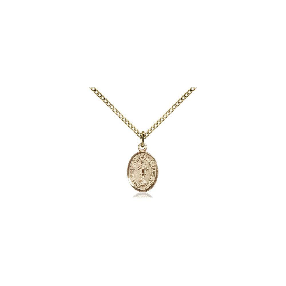 DiamondJewelryNY 14kt Gold Filled O//L of All Nations Pendant