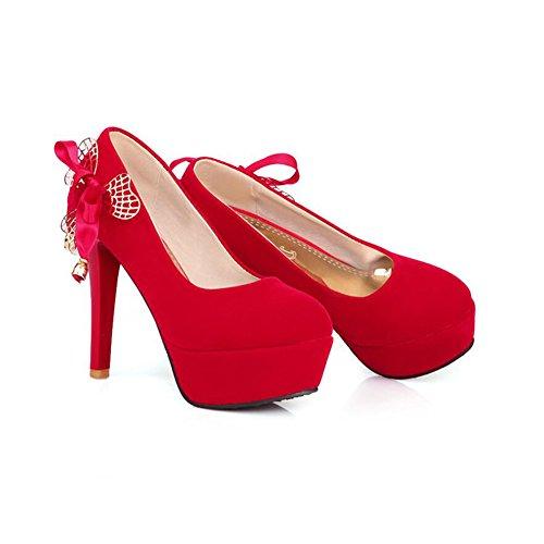 Doigt Fermer Red Haute De Talon Pied Sandale Chaussures Gladiateur Cjc Femmes Classique Suède Pointu 8ZnOO0q