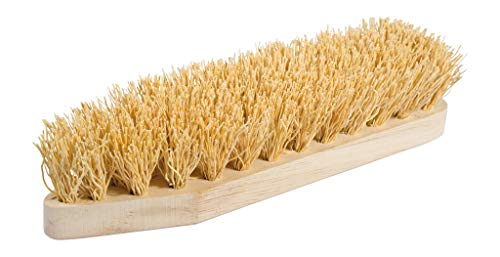 REDECKER Extra Rice Root Scrub Brush with Untreated Beechwood Handle, 9-Inches