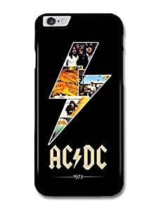 """Wholesale diy case Accessories ACDC Lighting and Logo 1973 Black Background case for iPhone 6 Plus (5.5"""")"""