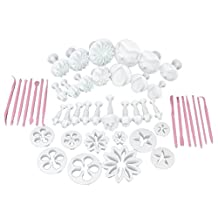 47pcs Sugarcraft Cake Decorating Fondant Icing Cutter Plunger Tools Mold Mould Set
