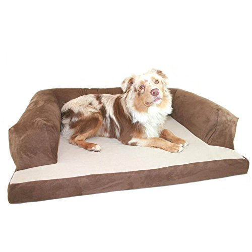 Baxter-Couch-Bolster-Dog-Bed-Fabric-Poly-Suede-Chocolate-Size-X-Large-34-x-54