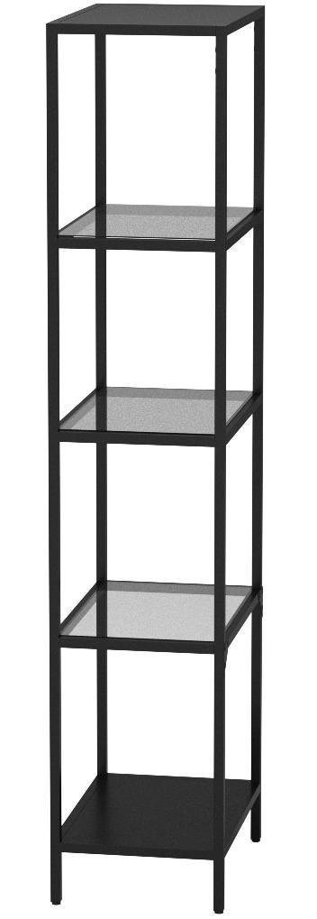 IKEA VITTSJO - estantería negro-cristal marrón - 51 x 175 cm ...
