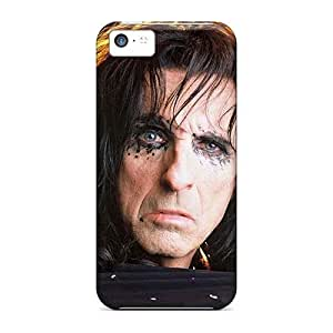 Scratch Protection Hard Phone Case For Iphone 5c With Allow Personal Design HD Alice Cooper Band Image JohnPrimeauMaurice