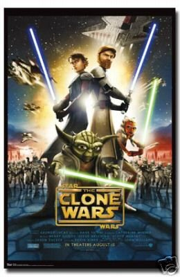 (Star Wars Movie Poster the Clone Wars Movie Sheet Rare )