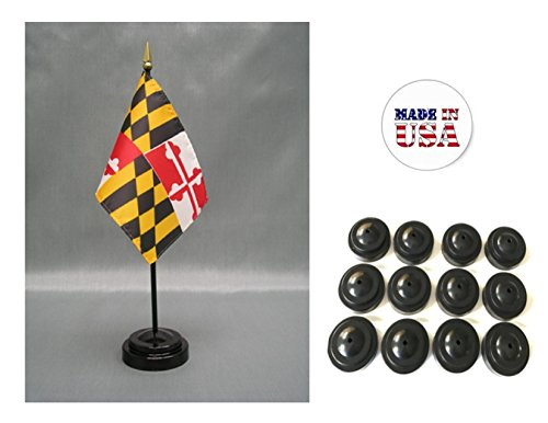 Miniature State Flags - Made in the USA!! Box of 12 Maryland 4
