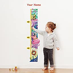 SpongeBob SquarePantsTM Personalized Growth Chart Wall Decal for Kids Room