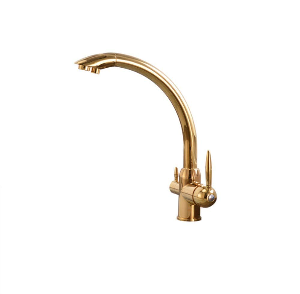 Edelstahl Einhand Mischer Einhebel Küchenarmaturen 360 Grad-Umdrehungs-Retrostil-Wasser-Reinigungs-Funktion