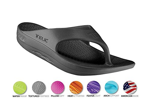 8b09c159b17909 Telic Unisex VOTED BEST COMFORT SHOE Arch Support Recovery Flipflop Sandal  +BONUS Pumice Stone  45