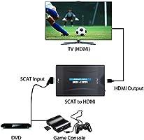 Adaptador de SCART a HDMI Adaptador de SCART a HDMI de 1080P Entrada SCART a Salida de HDMI Euroconector para Reproductor de DVD HDTV Blu-Ray Player: Amazon.es: Electrónica