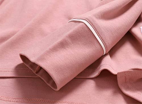 Salotto Cotone L Pigiameria Da Lunga Pigiama JYHTG 100 Donna Colore Pigiama Rosa Set Pigiama Pigiameria Manica Femminile Pigiama Coreana wT1U8qw
