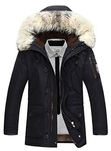 Jacket Ssrsh Fourrure Manteaux Homme Blanc Blouson Winter Hiver Veste Matelassé Mens Rembourrée Hooded Chaud Capuche Épais Noir Pour Parka Coat Avec Warm zCHndz