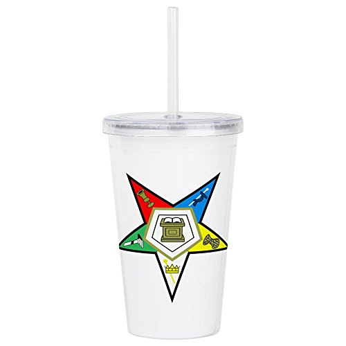 CafePress - ORDER OF THE EASTERN STAR Acrylic Double-Wall Tumb - Insulated Straw Cup, 20oz Acrylic Double-Wall Tumbler by CafePress