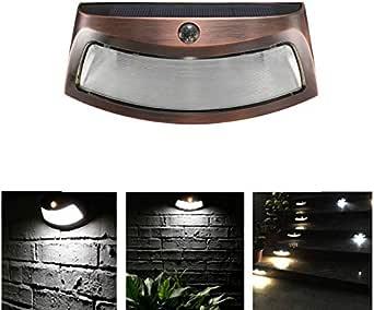 Luces de control de luz solar LED Lámpara de pared solar Luces de escalera: Amazon.es: Iluminación
