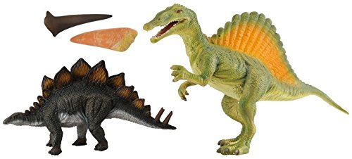 CollectA Dinosaur Wonders Spinosaurus and Stegosaurus Figure