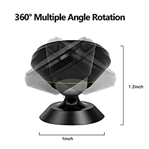 Universal Magnetic Phone Car Mount Holder Metal Luminous 360 Degree Rotation for Car Dashboard, Car Phone Mount Luminous Magnetic Car Phone Holder Print Soccer