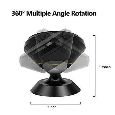 Universal Magnetic Phone Car Mount Holder Metal Luminous 360 Degree Rotation for Car Dashboard, Car Phone Mount Luminous Magnetic Car Phone Holder Print Soccer