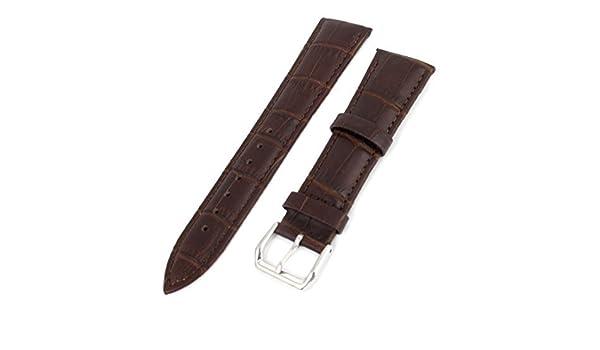 Amazon.com: eDealMax Unisex de cocodrilo marrón Grano de imitación de Cuero Correa de reloj de la Banda 22 MM: Electronics