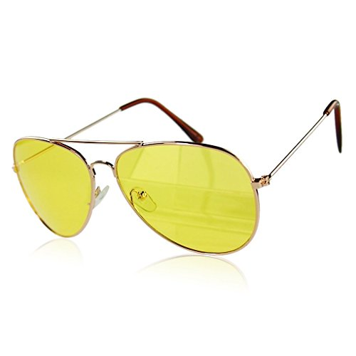 M-Egal Classic Uv400 Men'S Women'S Sunglasses Reflective Yellow Eyes - Reflective Trend Sunglasses