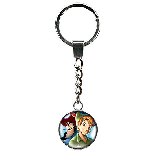 Peter Pan Disney Keychain Key Ring TV Comics Movies Cartoons Superhero Logo Theme Premium Quality Detailed Cosplay Jewelry Gift Series