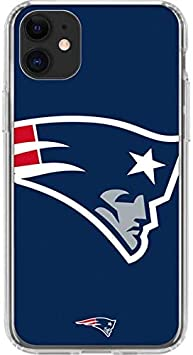 Skinit Clear Phone Case Compatible with iPhone 11 - Officially Licensed NFL New England Patriots Large Logo Design