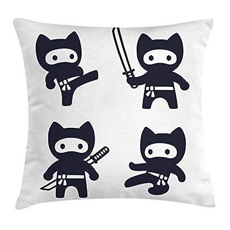 Xukmefat Funda de cojín Kawaii Throw Pillow, Ninjas de ...
