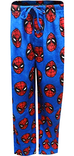Marvel Men's Spiderman Lounge Pants, Spidey Blue, M