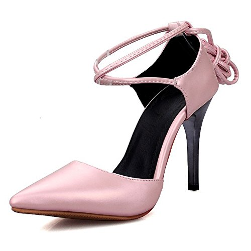 Pink Toe Pointed Stiletto Strap Women's Heel Ankle High Eclimb Shoes Pumps q7f4SCw