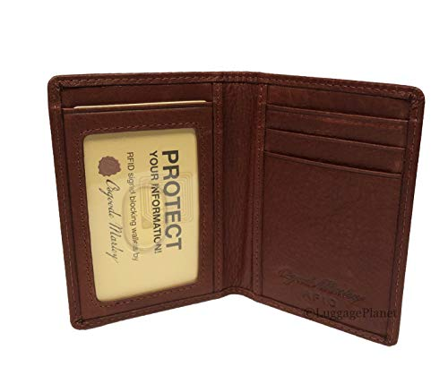 Osgoode Marley RFID Leather Mens ID Card Case Wallet (Brandy) ()
