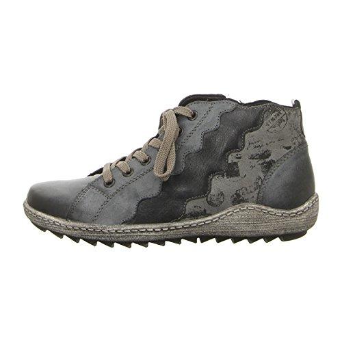 Remonte Ladies R1474 Sneaker Alta Blu (whitelake / Oceano / Asfalto / Oceano)