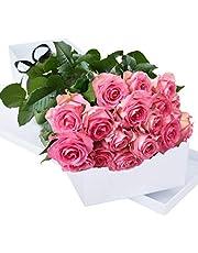 Two Dozen Fresh Pink Roses | Fresh Cut Flowers | Flower Bouquets | Anniversary Flowers | Birthdays Flowers | Flower Delivery | 24 Pink Roses