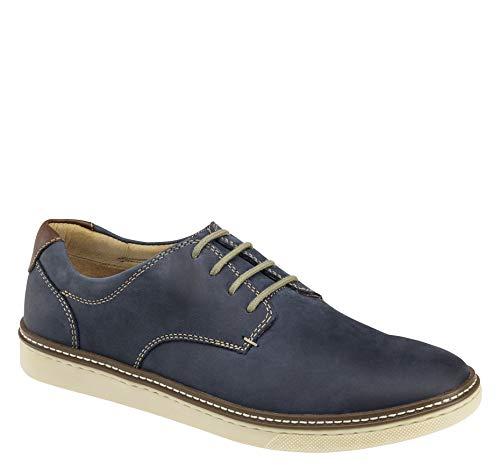Johnston & Murphy Men's McGuffey Plain Toe Shoe Navy Oiled Full Grain 14 M US