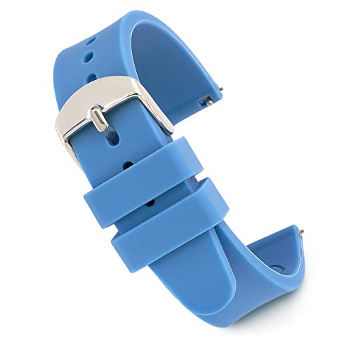 Speidel Scrub Watch Replacement 18mm Blue Silicone Rubber Band