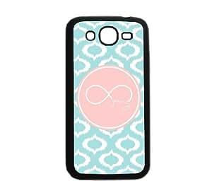 Be A Cheerl Fleur De Forever Young Aqua Ikat Cute Hipster Aqua Silicon Bumper Samsung Galaxy Grand Duos I9080 I9082 Case - Fits Samsung Galaxy Grand Duos I9080 I9082