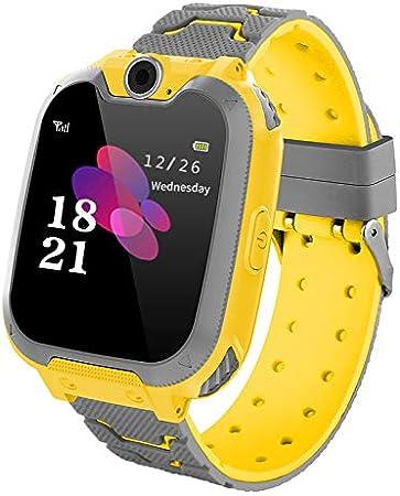 Winnes Reloj Inteligente para Niños, Niña La Musica y 7 Juegos Smart Watch Phone, 2 Vías Llamada Despertador de Cámara para Reloj Niño y Niña 3-12 años (Amarillo)